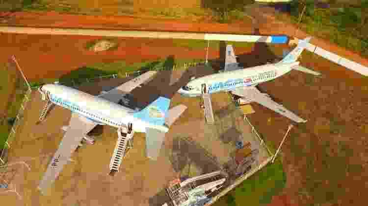 Dois Boeings 737-200 que pertenciam à Vasp em exposição em Araraquara - Divulgação - Divulgação