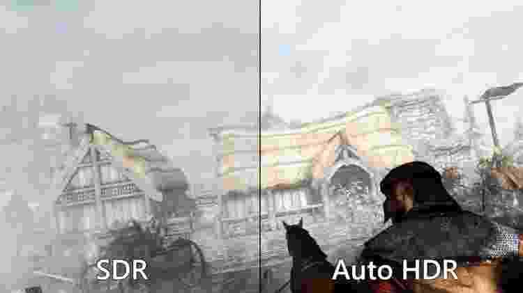 Windows 11 terá suporte à tecnologia HDR, que melhora consideravelmente os gráficos de um jogo - Reprodução - Reprodução