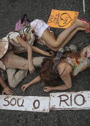 Ato em novembro lembrou a tragédia ambiental do rompimento da barragem de mineraçao da Samarco, no Rio de Janeiro