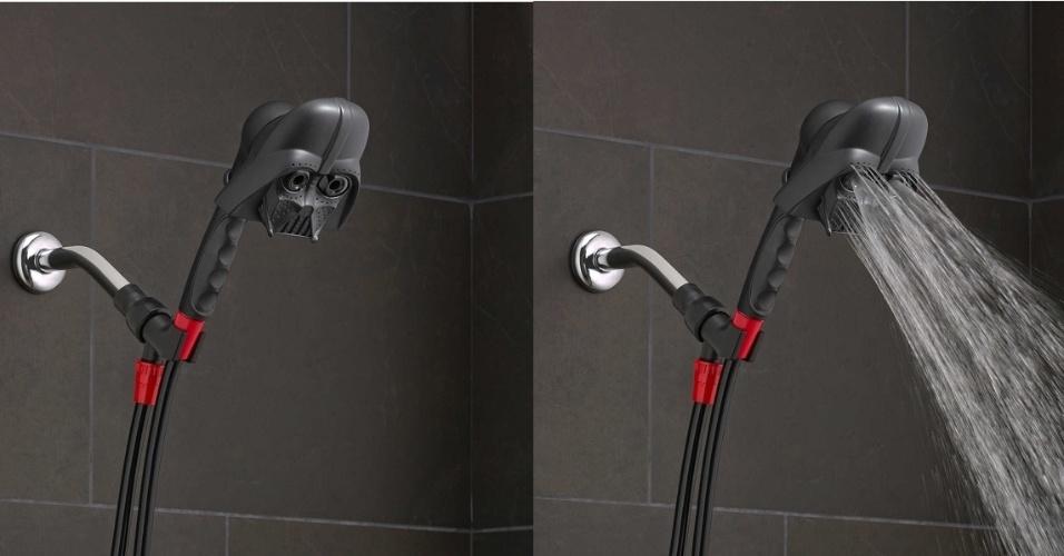A empresa americana Oxygenics criou um chuveiro com a forma da máscara usada por Darth Vader em Star Wars. Está à venda apenas nos Estados Unidos, na loja Bed, Bath & Beyond por US$ 29,99 (cerca de R$ 112)