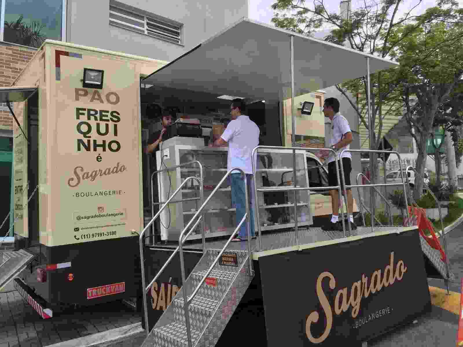 Padaria móvel da Sagrado Boulangerie, que atende a região de Alphaville, em São Paulo - Divulgação
