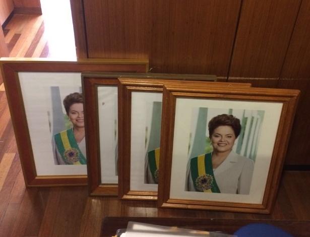 Os retratos da ex-presidente Dilma Rousseff foram retirados dos gabinetes e salas do Palácio do Planalto - Gustavo Uribe/Folhapress