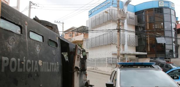 Unidade de Polícia Pacificadora na comunidade Nova Brasília, zona norte do Rio