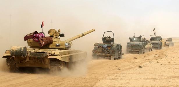 17.out.2016 - Exército do Iraque lança ofensiva para retomar a cidade de Mosul do controle do Estado Islâmico