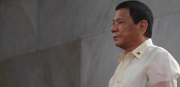 O presidente filipino Rodrigo Duterte