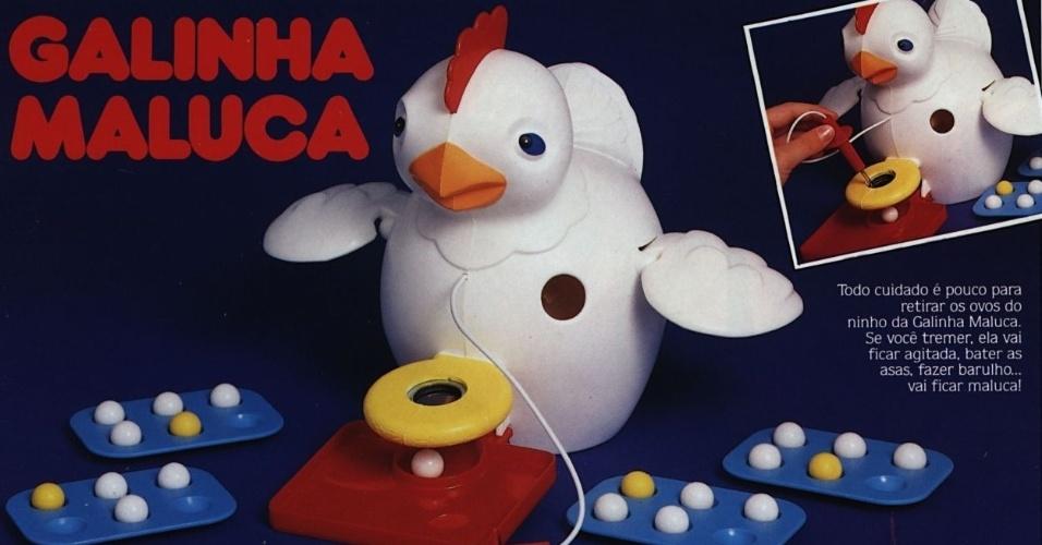 O jogo Galinha Maluca foi lançado em 1991 pela Estrela