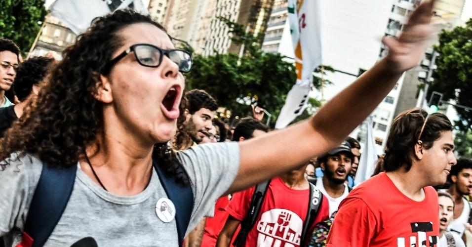 Funcionários do Estado do Rio de Janeiro e jovens da União Juventude Rebelião (UJR) saíram juntos às ruas contra reforma da Previdência em março, no Rio