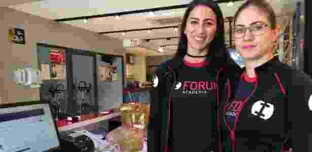 Chaiane Karen Santos (à esq.) e Aline Carvalho da Silva afirmam que a academia onde trabalham, vizinha ao fórum, usará tapumes - Janaina Garcia/UOL - Janaina Garcia/UOL