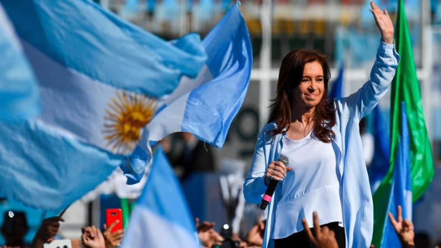 A ex-presidente Cristina Kirchner durante campanha ao Senado em 2017 - Eitan Abramovich/ AFP