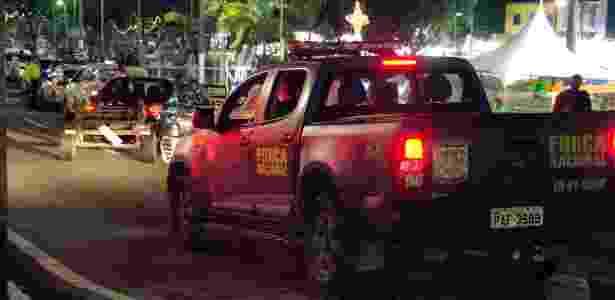 Policiais da Força Nacional patrulham Natal - PEDRO VITORINO /PHOTOPRESS/ESTADÃO CONTEÚDO