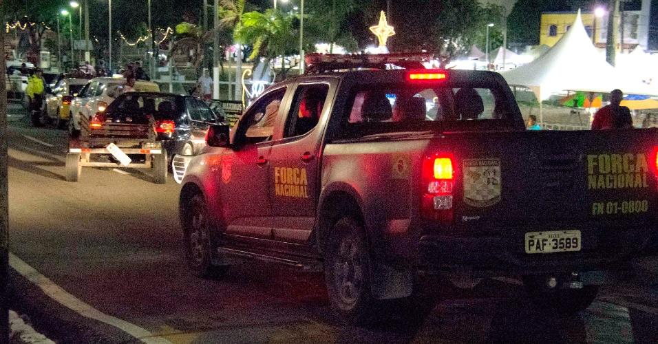 Policiais da Força Nacional patrulham Natal