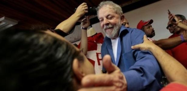 O ex-presidente Luiz Inácio Lula da Silva durante evento político
