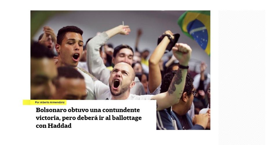 """La Nación (Argentina): """"Bolsonaro obteve uma vitória contundente, mas deverá ir ao segundo turno com Haddad"""""""
