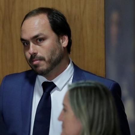 O vereador Carlos, um dos filhos do presidente Jair Bolsonaro - Reuters