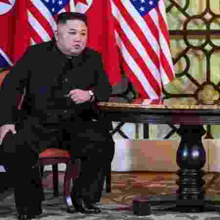 Após o fracasso da mais recente cúpula Trump-Kim, não está claro onde a política dos EUA para a Coreia do Norte está indo - AFP - AFP