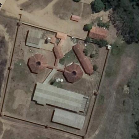 Vista aérea do presídio em Altamira onde dezenas de presos morreram - Reprodução/Google Maps