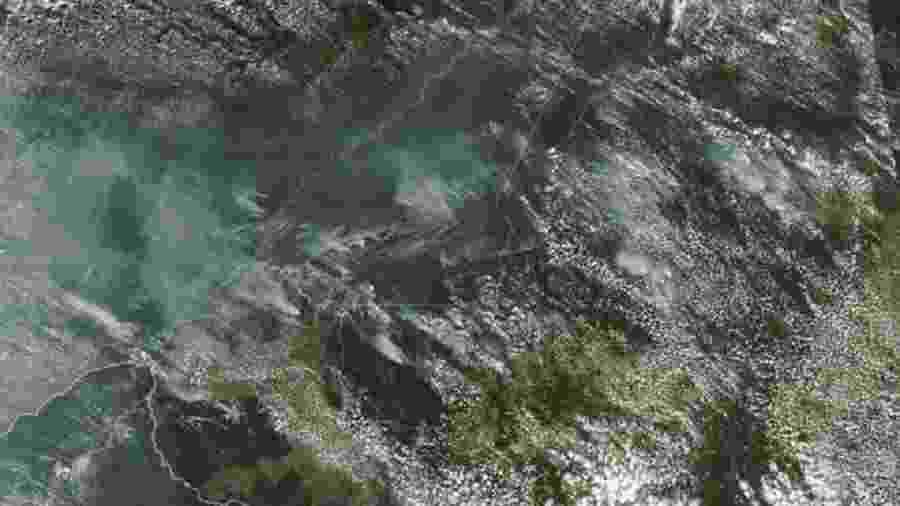 Imagem da Nasa mostra vários incêndios nos estados de Rondônia, Amazonas, Pará e Mato Grosso em agosto de 2019 - AFP/Getty Images