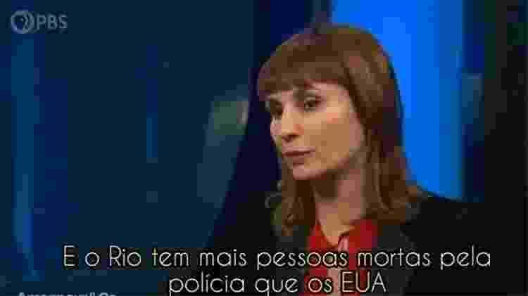 Petra Costa em entrevista à PBS - Reprodução