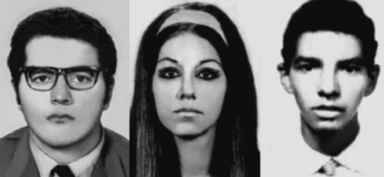 Iuri Xavier Pereira, Ana Maria Nacinovic Corrêa e Marcos Nonato da Fonseca, mortos no DOI-Codi em 1972; laudos do médico Abeylard de Queiroz Orsini afirmavam que os três haviam sido mortos em confrontos com policiais - MPF/Divulgação