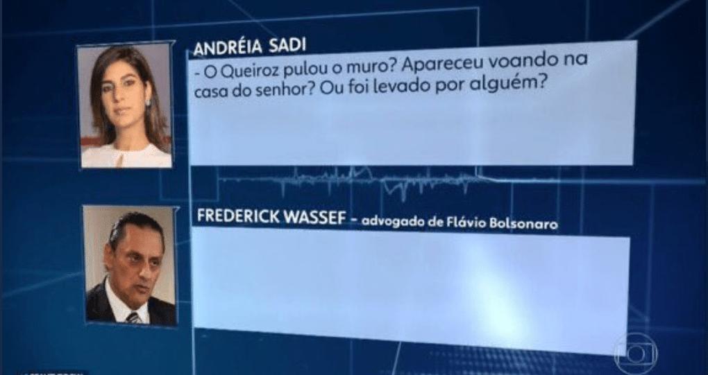 Sarcasmo da repórter Andreia Sadi expôs o absurdo das respostas de ...