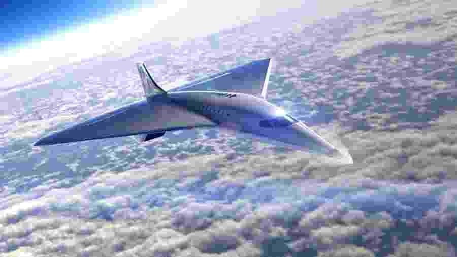 Avião supersônico está sendo desenvolvido pela Virgin Galactic e Rolls-Royce - Divulgação