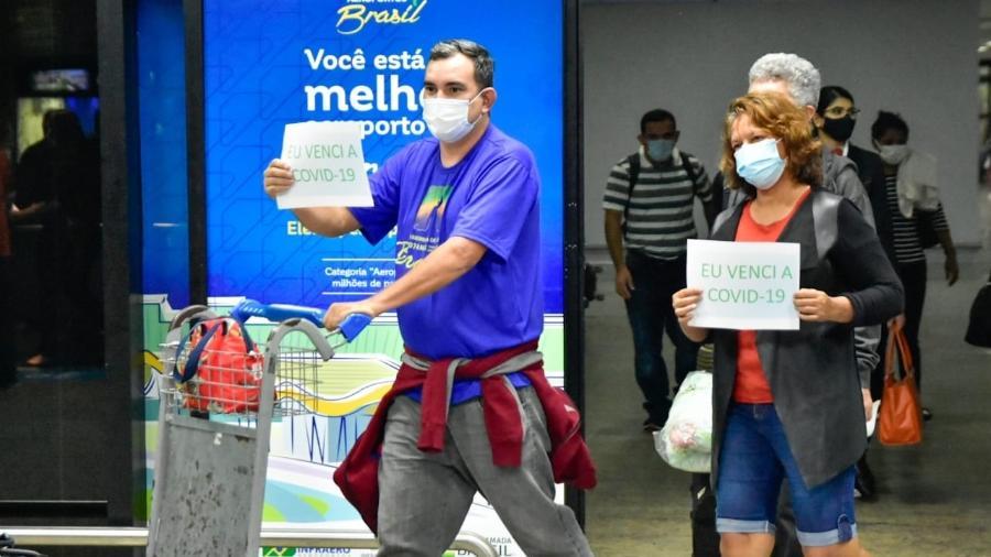 Pacientes recuperados da covid-19 em São Luís retornam a Manaus - Mauro Neto/Divulgação