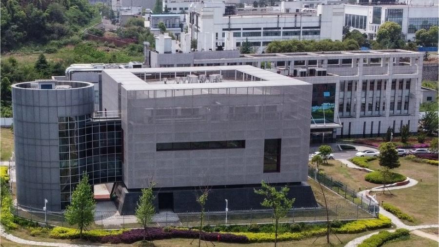 Fachada do laboratório em Wuhan - AFP