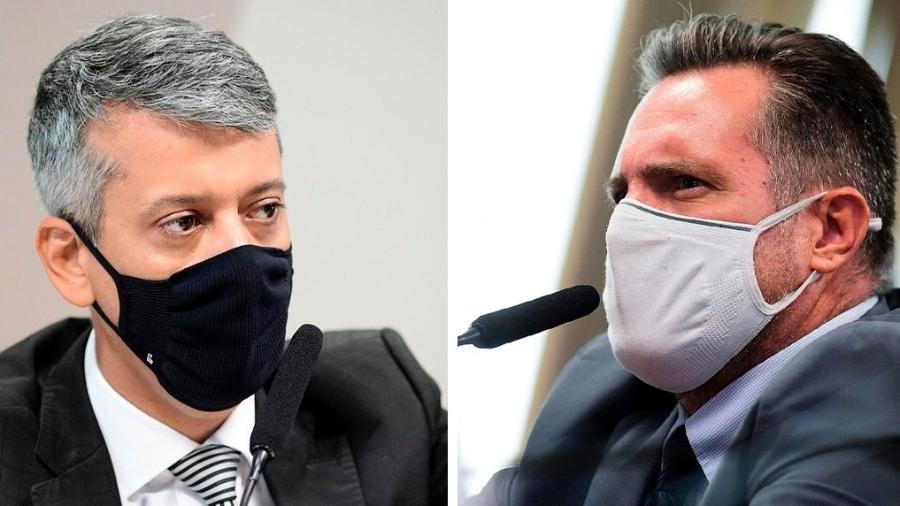 O ex-diretor de logística do Ministério da Saúde Roberto Dias e o policial vendedor de vacinas Luiz Paulo Dominghetti - Arte/UOL