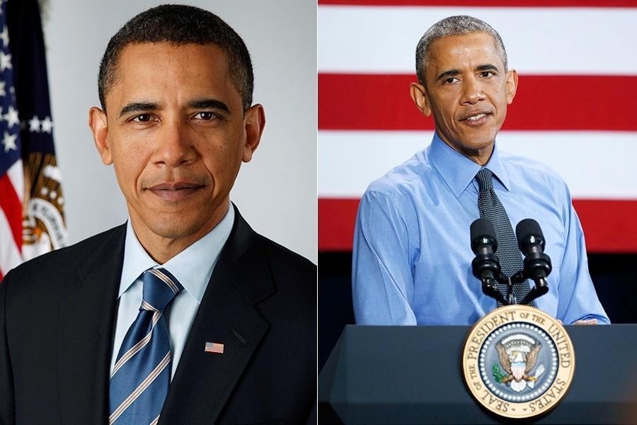 Este é o caso mais recente é emblemático de como governar a nação mais importante do mundo pode ser estressante. Barack Obama, que deixa a Presidência dos Estados Unidos no fim deste ano, tem muitos cabelos brancos a mais agora, com ?apenas? 54 anos. Bem diferente da cara de jovem rapaz em 2009, quando tinha 48 anos, hein?