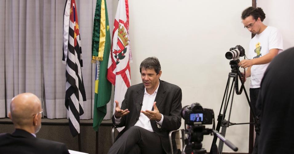 19.fev.2016 - O prefeito Fernando Haddad (PT) acredita que, se não fosse a crise política, a economia voltaria a andar em um ano