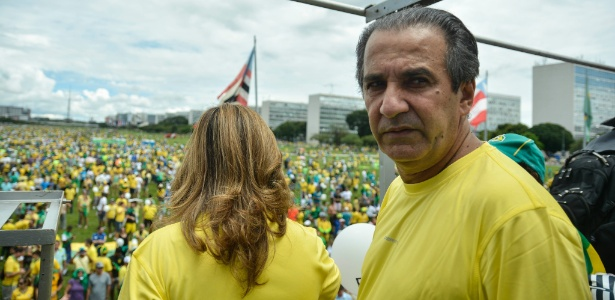 O pastor Silas Malafaia participou dos protestos contra Dilma no dia 13 de março