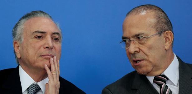 O presidente interino, Michel Temer, e o ministro-chefe da Casa Civil, Eliseu Padilha