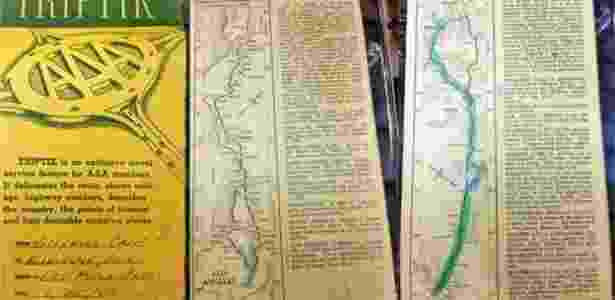 Mapas especiais para carros surgiram na década de 30 nos EUA - AAA - AAA