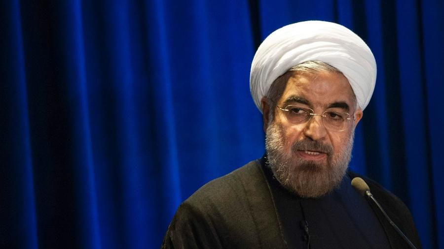 Arquivo - O presidente iraniano, Hassan Rohani, considerou as preocupações de outros países como infundadas  - Keith Bedford/Reuter