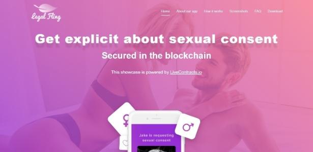 Página principal do site do app LegalFling