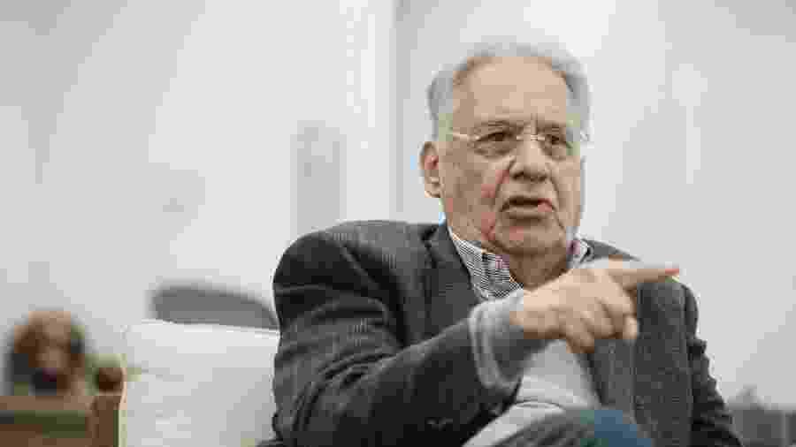 22.mai.2018 - O ex-presidente Fernando Henrique Cardoso (PSDB), na sede da fundação que leva o seu nome, no centro antigo de São Paulo - Carine Wallauer/UOL