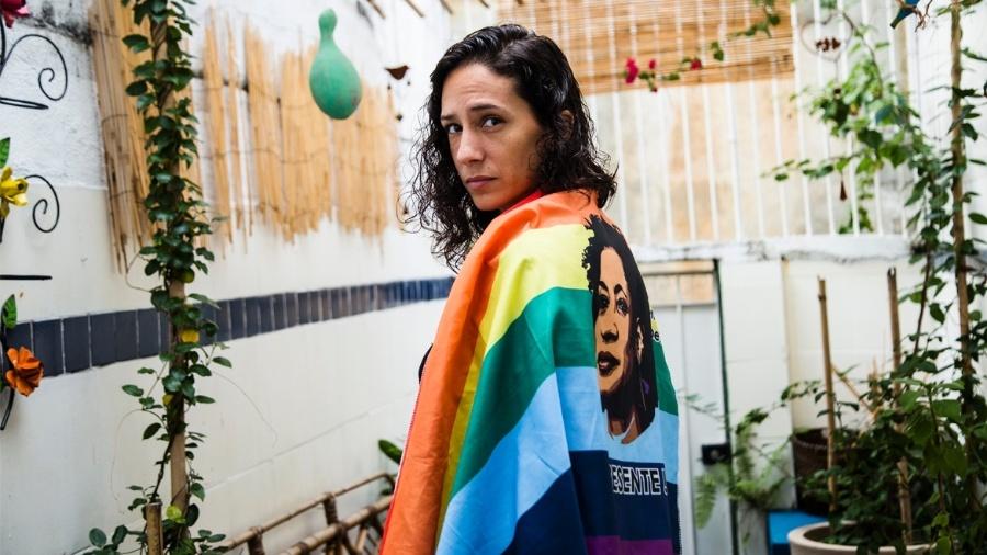 Monica Benício, viúva de Marielle Franco, que foi assassinada no Rio  - Elisângela Leite/ Anistia Internacional