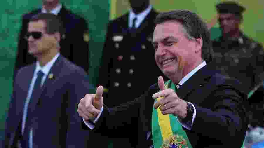 Bolsonaro durante desfile do 7 de Setembro em Brasília - Fátima Meira/Futura Press/Estadão Conteúdo