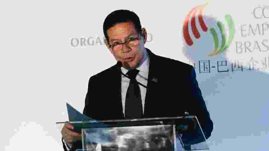O presidente em exercício, Hamilton Mourão, participa da Conferência Anual do Conselho Empresarial Brasil-China (CEBC), no Hotel Renaissance, em São Paulo - Leco Viana/TheNews2/Estadão Conteúdo