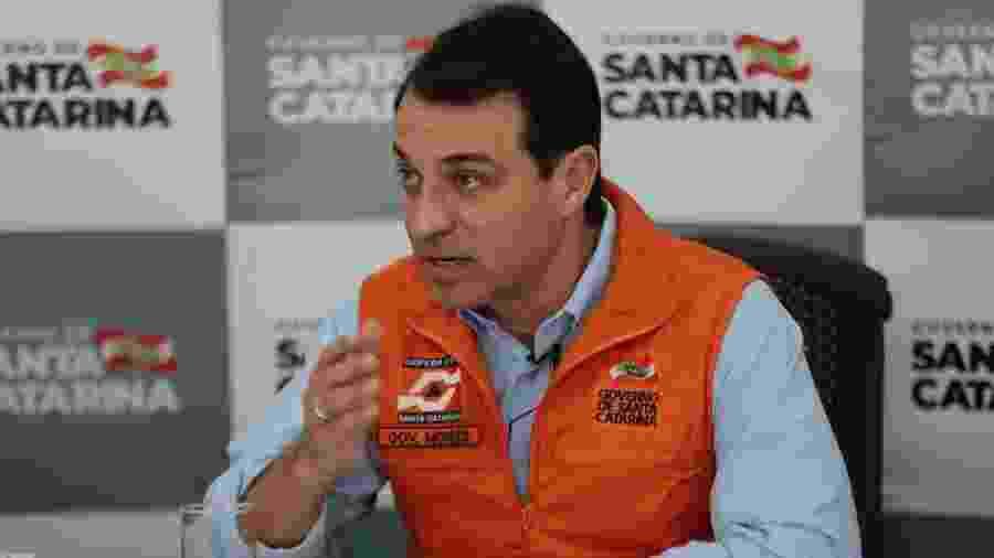 20.mar.2020 - Coletiva de imprensa com Governador de Santa Catarina Carlos Moisés - Mauricio Vieira / Secom