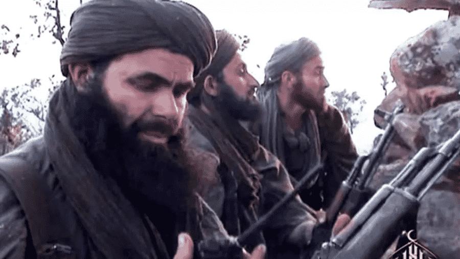 O líder da Al Qaeda do Magreb Islâmico (Aqmi), Abdelmalek Droukdal, morto pela França no norte do Mali na quinta-feira (4) - Al-Andalus/AFP/Archivos