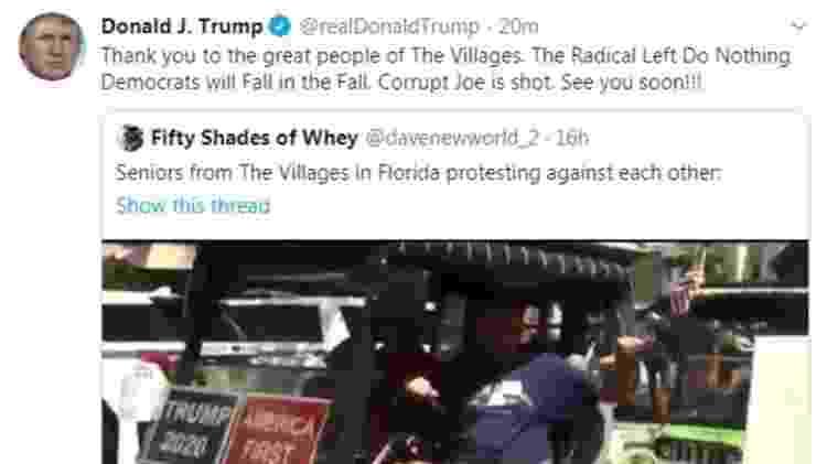 Trump Twitter - Reprodução - Reprodução