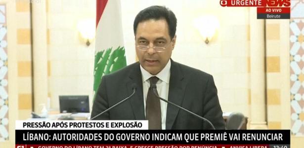 Após explosão em Beirute   Premiê do Líbano demite todo o gabinete e renuncia