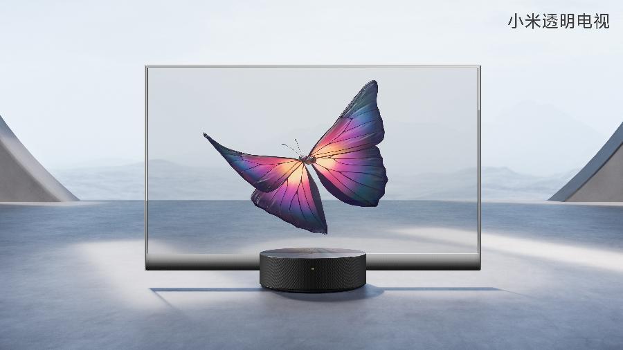 Mi TV Lux OLED Transparent Edition, da Xiaomi - Divulgação