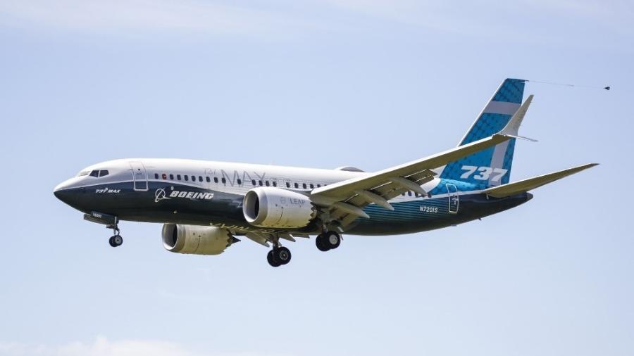 Teste do Boeing 737 MAX em Seattle, nos EUA, em 29 de junho de 2020 - Jason Redmond/AFP