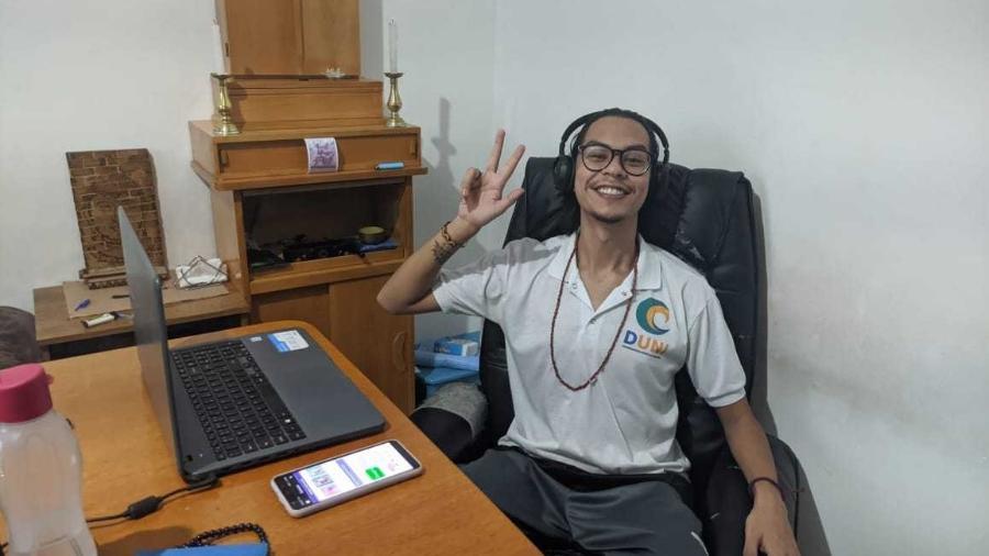 Marlon Mitsunaga organiza os encontros virtuais sobre budismo na quebrada - Tamires Rodrigues