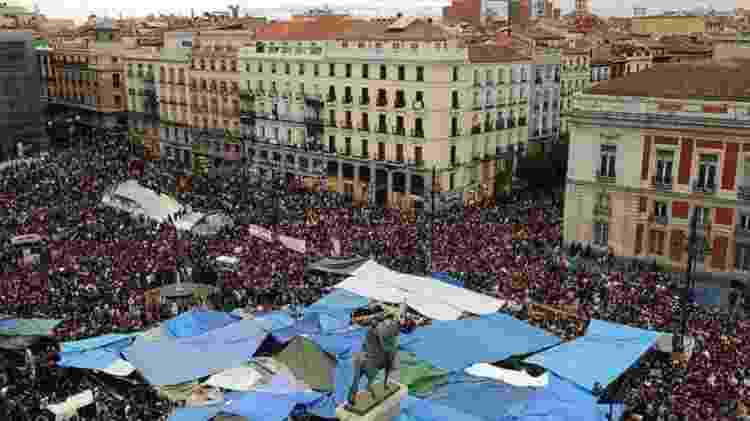 A crise na Espanha levou os espanhóis às ruas, especialmente em Madri, no movimento dos 'indignados' -  Jasper Ruinen -  Jasper Ruinen