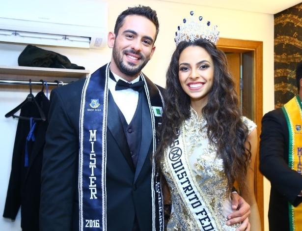 O casal campeão do concurso de beleza do Distrito Federal