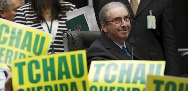 Cunha preside uma das sessões que analisou o processo de impeachment