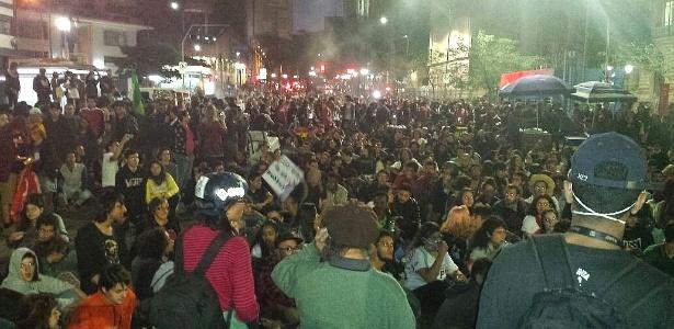 Em São Paulo, protesto contra Temer chega à Praça da República - Flávio Costa/UOL